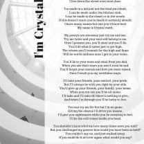 I Am Crystal Meth poem